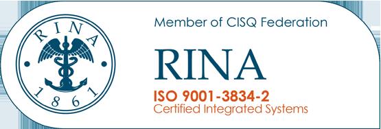 certificazione rina iso 9001-3834-2
